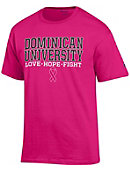 Dominican University Stars Breast Cancer Awareness Ribbon T-Shirt