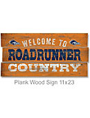 University of Texas San Antonio Roadrunners 22''x11'' Wood Sign