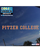 Pitzer College Strip Decal