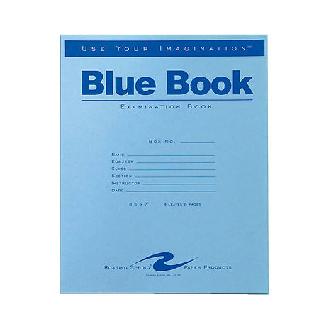 Product: Examination Blue Book