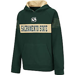 Large Sacramento State Dark Green Fleece Hood Baseball