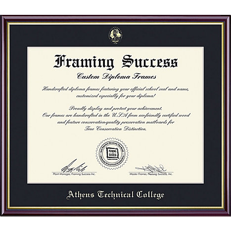 athens technical college x value price academic diploma  framing success athens technical college 8 5 x 11 value price academic diploma frame