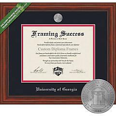 Education Framed Diploma Custom Frame OCM Diploma Frames University of Georgia Bulldog Graduation Gifts Displays Diploma Certificate Home Office /& Office Professional Black//Cherry Mat