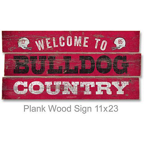 Georgia Bulldog Wooden Signs