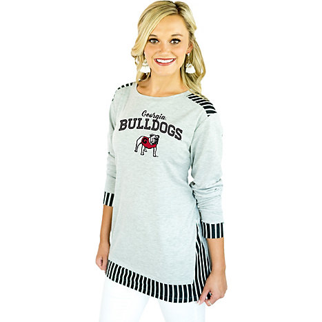 22037f71 Gameday Couture University of Georgia Women's Slim Fit Tunic Long Sleeve T- Shirt
