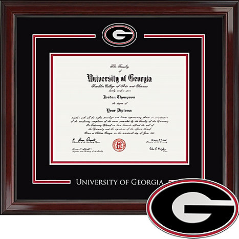 University of Georgia Spirit Diploma Frame. Bachelors, Masters, PhD ...