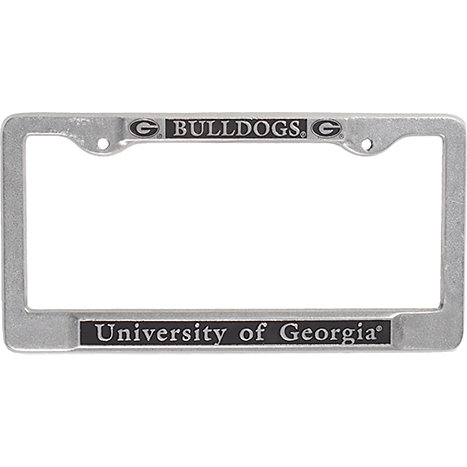 1614b University Of Georgia Pewter License Plate Frame