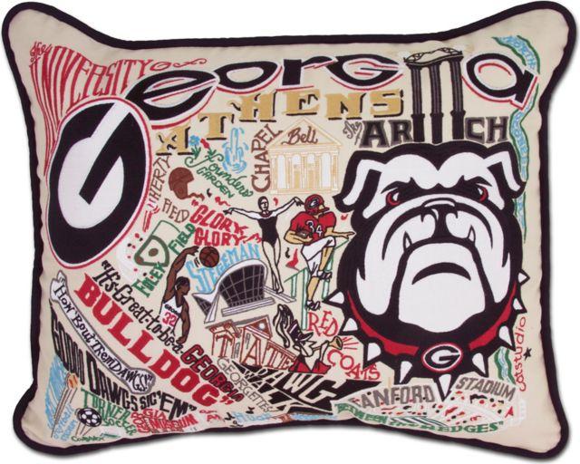 University Of Georgia Embroidered Pillow University Of Georgia