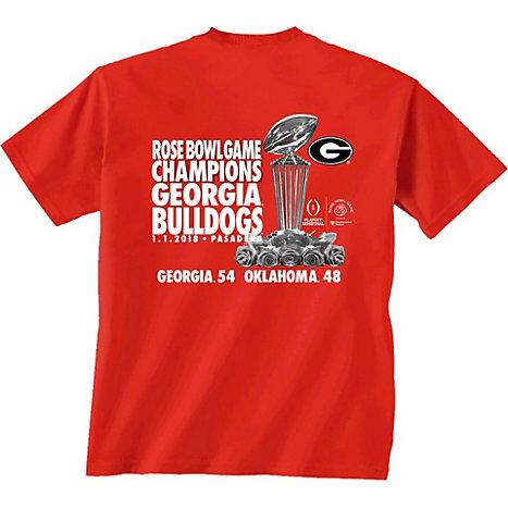 00be45d3 New World Graphics University of Georgia Bulldogs Football 2018 Rose Bowl  Champions T-Shirt