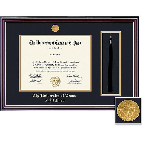 University of Texas El Paso 8.5\'\' x 11\'\' Windsor Diploma Frame ...