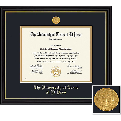 The University Of Texas-El Paso Coronado BA/MA Diploma Frame -ONLINE ...