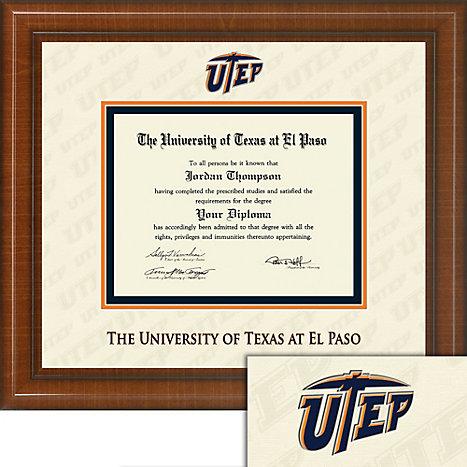 UTEP Dimensions Plus Diploma Frame. Bachelors, Masters.   University ...