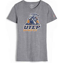 RussellApparel NCAA UTEP University of Texas El Paso Womens Half Sleeve Heather V-Neck Tunic