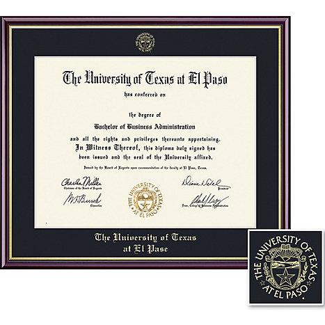 University of Texas El Paso 8.5\'\' x 11\'\' Value Price Academic ...
