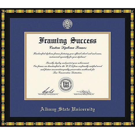 Albany State University 11 in. x 14 in. Kente Diploma Frame | Albany ...