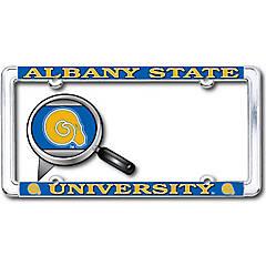 Albany State University ASU Golden Rams NCAA Vinyl Decal Laptop Water Bottle Car Scrapbook State Boarder Sticker