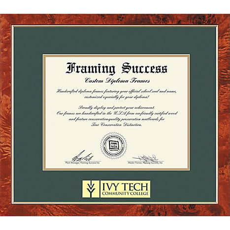 Ivy Tech Community College 8.5\'\' x 11\'\' Traditional Diploma Frame ...
