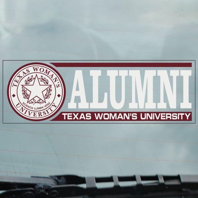 Texas Woman's University Alumni Cling Decal:Texas Woman's University