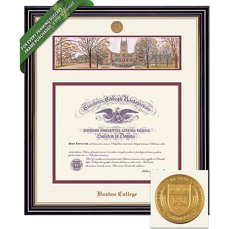 Boston College 20\'\' x 16\'\' Prestige Diploma Frame with Lithograph ...