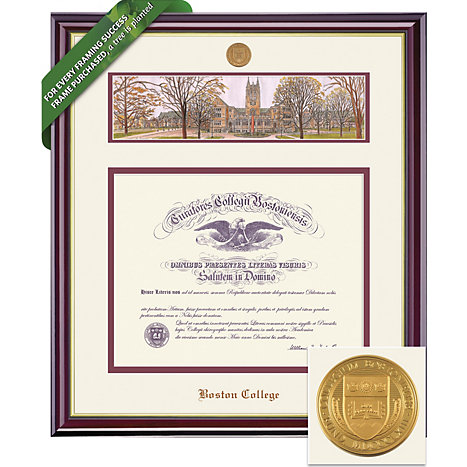 Boston College 20\'\' x 16\'\' Windsor Diploma Frame with Lithograph ...