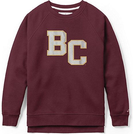 League Boston College Women s Slim Fit Crew Neck Sweatshirt 07c0258857