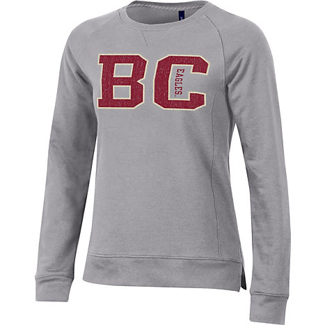 Product  Boston College Women s Relaxed Fit Crewneck Sweatshirt f7fb6dc86f