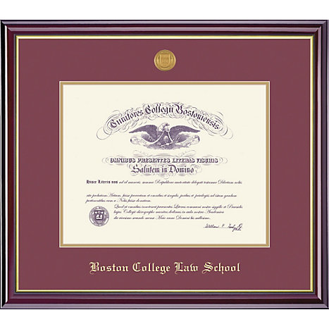 Boston College Law School 14 X 17 Windsor Law Diploma Frame