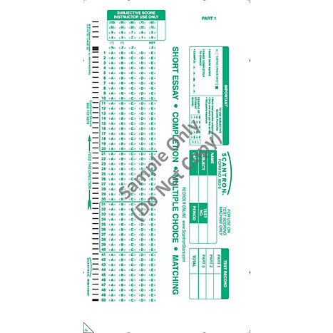 scantron with essay Writing sample essays essay task write a unified, coherent essay about the increasing presence of intelligent machines in your essay, be sure to:.