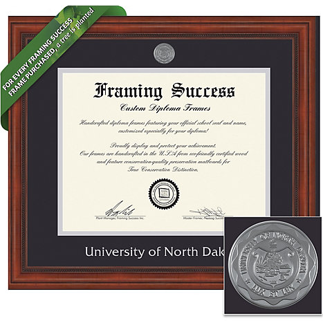 University of North Dakota 8.5 in. x 11 in. Millenium Diploma Frame ...
