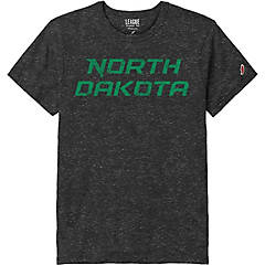 Small Kelly Green Under Armour NCAA North Dakota Womens Short Sleeve Charged Cotton Tee