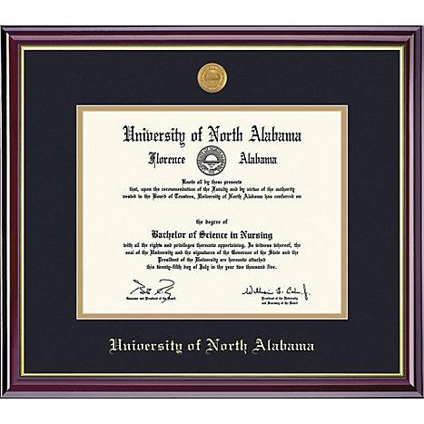 University of North Alabama 8\'\' x 10\'\' Windsor Diploma Frame ...