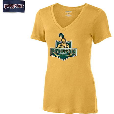 Clarkson University Golden Knights Women 39 S V Neck T Shirt
