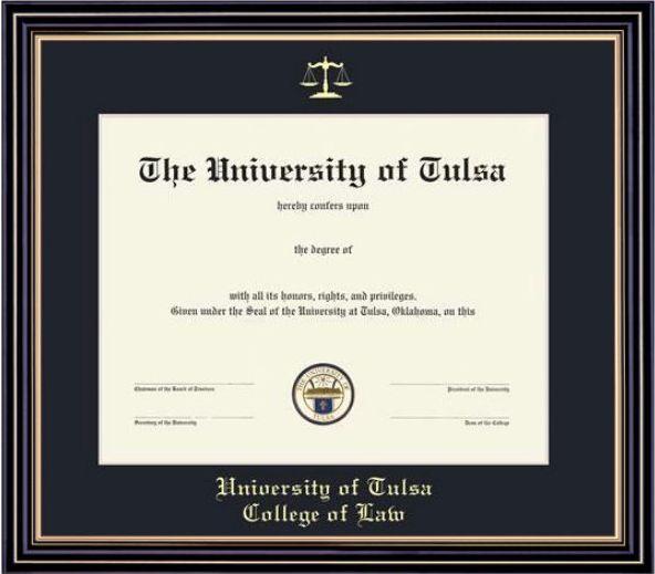 University Of Tulsa 11x14 Prestige Diploma Frame University Of Tulsa