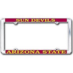Desert Cactus Arizona AZ State University ASU Sun Devils NCAA Metal License Plate Frame for Front Back of Car Officially Licensed Dad