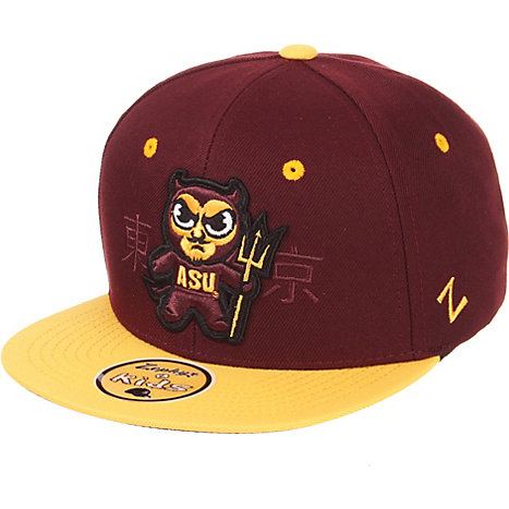 3a1a9ce80e396 Product  Arizona State University Sun Devils Tokyodachi Youth Snapback Hat