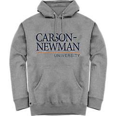 Carson-Newman Grey Fleece Hoodie Carson Newman Stacked