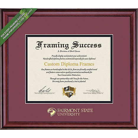 fairmont state university x classic diploma frame  framing success fairmont state university 8 5 x 11 classic diploma frame