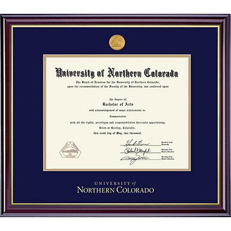 University of Northern Colorado Windsor Medallion Diploma Frame ...