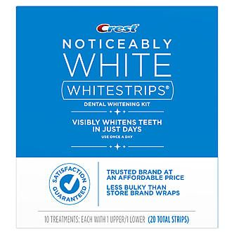 Crest Noticeably White Whitening Strips 10ct University of Texas