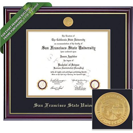 San Francisco State University 8.5\'\' x 11\'\' Windsor Diploma Frame ...
