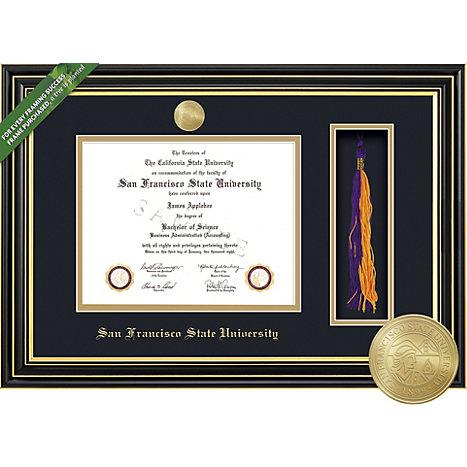 San Francisco State University Prestige Diploma Frame with Tassel ...