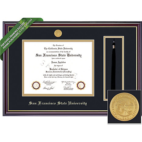 Framing Success San Francisco State University Windsor Diploma Frame With Tassel Holder