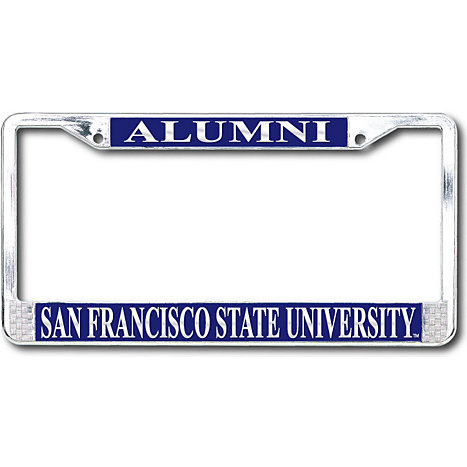 San Francisco State University Polished Chrome Alumni License Plate ...