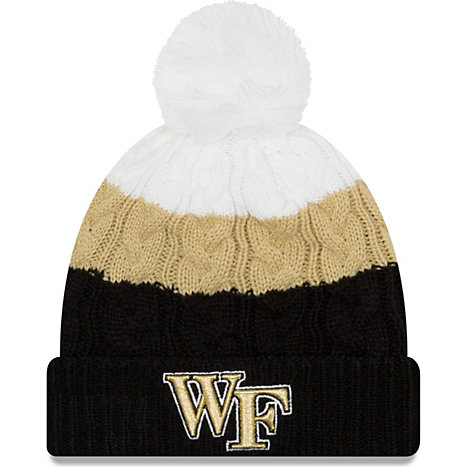 cheap for discount ca88c cc776 ... ireland new era wake forest university womens layered pom beanie 4ac5e  90b46