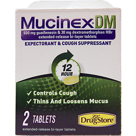 Mucinex Dm Cough And Cold Relief 2ct Tablets Embry Riddle