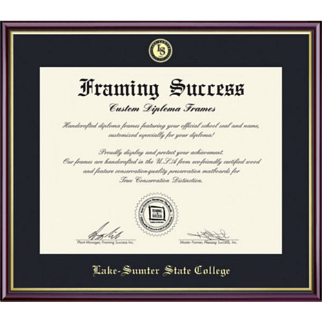 Lake Sumter State College 7 X 9 Academic Diploma Frame Lake