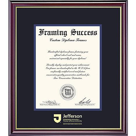 thomas jefferson university x diploma frame thomas  framing success thomas jefferson university 18 x 24 diploma frame