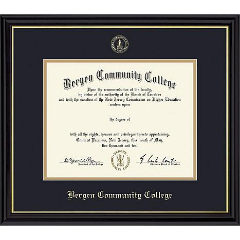 Bergen Community College Diploma Frame   Bergen Community College