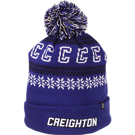 reputable site 4e0ef 1404e ... top of the world creighton bluejays ezdozit knit beanie royal blue  0a67a c4818 australia product creighton university pom beanie hat c9582  a5b5d ...