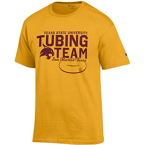 Product  Texas State University Tubing Team Short Sleeve T-Shirt c11698627767